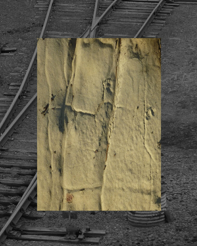 Fack Sand Trains digital collage