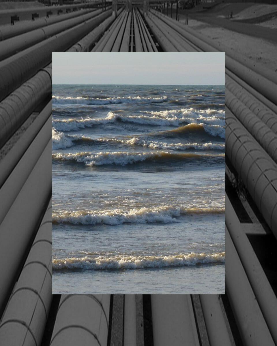 Frack Sand Mining - Tar Sand digital collage