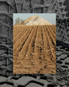 Tracks- Frack Sand Mining digital collage
